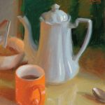 Coffee Pot and Orange Mug, 10x12ins, £495, Imagine