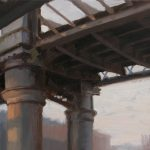 Norman Long, Bridge, Castlefeld,  14 x 12 ins, SOLD