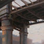 Bridge, Castlefeld,  14 x 12 ins, SOLD