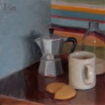 Coffee And Biscuits with Stripes, 14x14ins, £695,