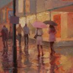 Late Night Shoppers 12x12ins SOLD