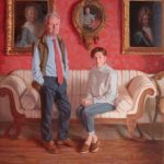 Robert and Amanda Parker of Browsholme Hall, 34 x 40 ins