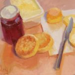 Scones And Crumpets, 12x10ins, SOLD