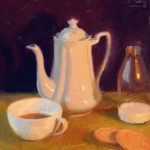 CoffeeAndBiscuits,14x16ins, SOLD