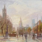 Winter Sun, Albert Square 12x12ins £625