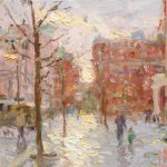 Winter Sun, St Peters Square 12x10ins £545