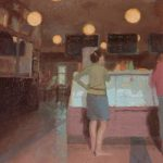 "Norman Long ""At The Counter"" 10x12ins  SOLD"