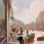 Norman Long, Friargate Cafe, 14x16ins, SOLD
