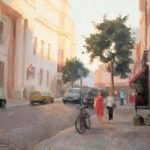 Summer Stroll, Covent Garden to Holborn 20x14ins was £1300 now £425 unframed
