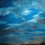 Norman Long, Night Sky, Winter,  26x26ins, SOLD