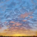Norman Long, Spring Dawn,  26x26ins, SOLD