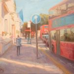 Quicker to Walk, Piccadilly 20x14ins £595