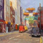 Chinatown 14x12ins £665, Colourfield