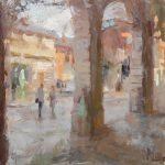 Covent Garden Rendezvous 12x12ins £615