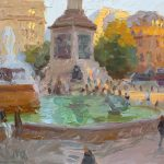 Golden Light, Trafalgar Fountains 12x10ins £545