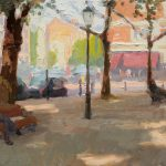 Sloane Square Shadows 18x12ins SOLD