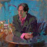 Norman Long, Lounge Lizard, 10x10ins