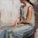 Norman Long, Sittin (after Steve Huston), 6x9ins