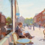 Friargate Cafe Study 12x8ins £525 (or £455 unframed)