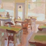 Hawthorns Cafe Study 8x6ins SOLD