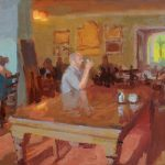 One Man and his Pint, Inn at Whitewell, 20x10ins, SOLD