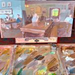 Painting in the bar area, Inn at Whitewell