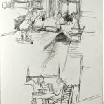 Drawing in the bar area, Inn at Whitewell