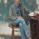 Fiona At The Table, 14x24ins, £995