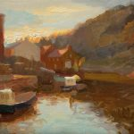 Dusk In The Harbour, Staithes 12x10ins £545