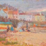 Party on the Beach, Staithes 14x12ins £665