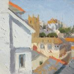 Rooftops of St Ives 12x8ins   £450