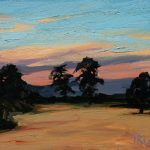 Sunset over Wheatfields 15x12ins £395 unframed