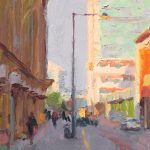 Morning Light, Market Street, Manchester, 10x 12ins SOLD