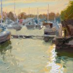 Boats At Sundown, Preston Marina 12x10ins, £545