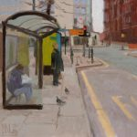 Waiting, St Peters Square 14x14ins, was £695 now £255 framed