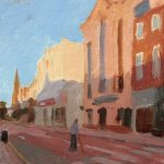 Fishergate at Dusk 10x12ins was £545 now £195 unframed