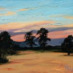 Sunset over Wheatfields 15x12ins was £695 now £250 unframed