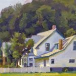 The White House, Vermont 23x10ins was £895 now £395 unframed