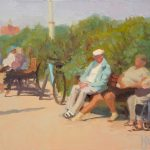 Day Trippers St Annes 12x10 inches SOLD