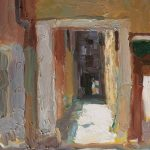 Alleyway Abstraction, Venice 12x16ins SOLD