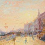 Brilliant Sunset, Riva Degli Shiavoni 16x12ins £750