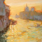 Sunrise On The Grand Canal 12x12ins