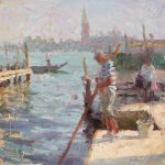 The Old Gondolier 12x12ins