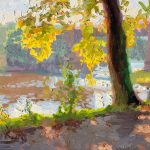 Summer Leaves by the Ribble 12x10ins £545