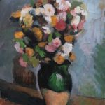 After Cezanne, Flowers in an Olive Jar, 12x16ins SOLD