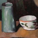 After Cezanne, Pot and Bowl, 6x8ins SOLD