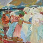 After Sorolla, Selling the Catch, 12 x 10ins SOLD