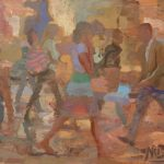 Girls in Summer Clothes 22x16ins £595