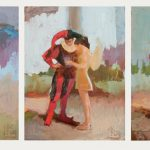 Three Studies for Jester and Bride 8x6ins £325