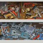 Two Studies of an Open Toolbox 16x4ins £445
